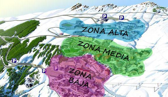 zonas urbanización pradollano sierra nevada
