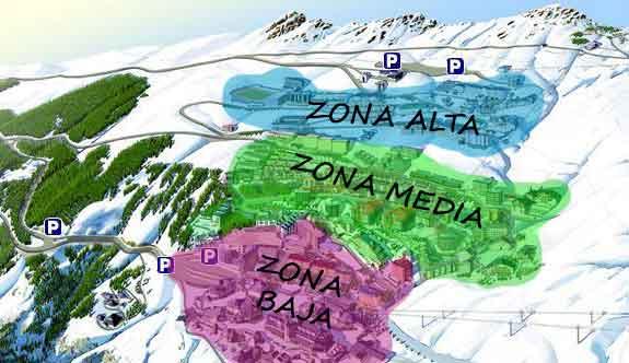 Plano urbanización por zonas